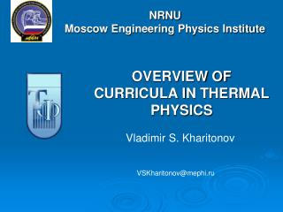 NRNU Moscow Engineering Physics Institute