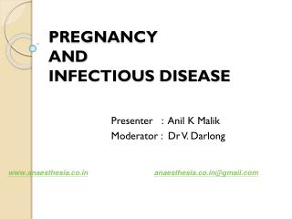 PREGNANCY  AND INFECTIOUS DISEASE