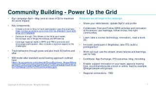Community Building - Power Up the Grid