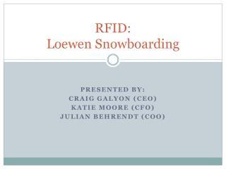 RFID:  Loewen  Snowboarding