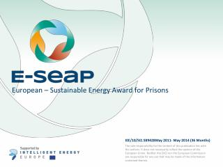 European – Sustainable Energy Award for Prisons