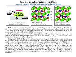 New Compound Materials for Fuel Cells