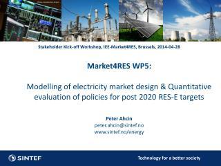 Stakeholder Kick-off Workshop, IEE-Market4RES, Brussels, 2014-04-28