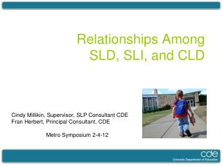 Relationships Among  SLD, SLI, and CLD