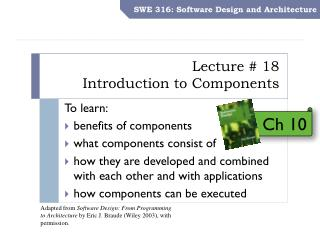 Lecture # 18 Introduction to Components