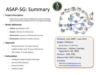 ASAP-SG: Summary