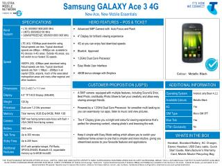 Samsung GALAXY Ace 3 4G  New Ace, New Mobile Essentials