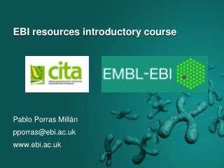 EBI resources introductory course