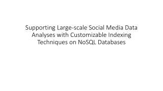 Motivation - c haracteristics of social media data analysis