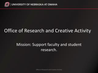 Office of Research and Creative Activity