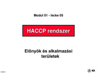 HACCP rendszer