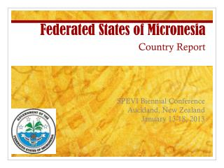 Federated States of Micronesia Country Report