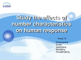 Study the effects of number characteristics on human response