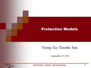 Protection Models
