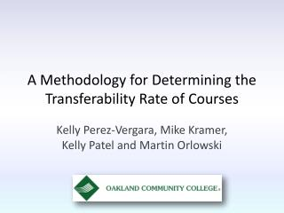 A Methodology for Determining the Transferability Rate of  Courses