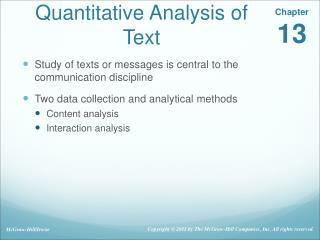 Quantitative Analysis of Text