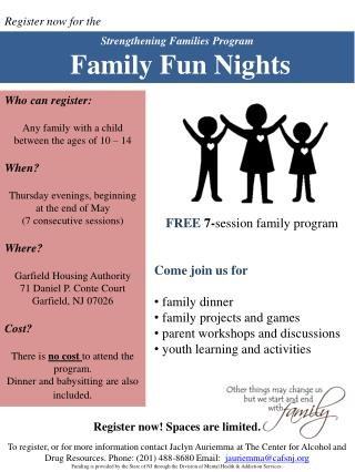 Strengthening Families Program Family Fun Nights