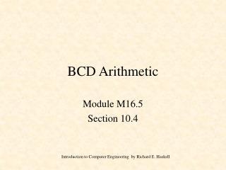 BCD Arithmetic