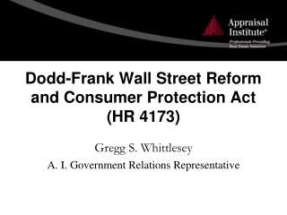 Dodd-frank wall street reform act