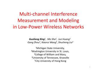 Multi-channel Interference Measurement and Modeling in Low-Power Wireless Networks
