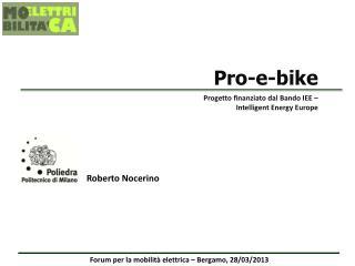 Forum per la mobilità elettrica – Bergamo, 28/03/2013