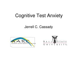Cognitive Test Anxiety