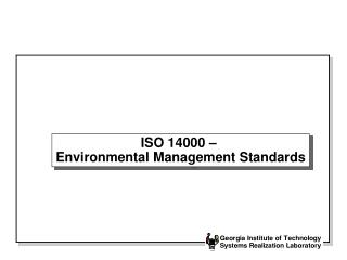ISO 14000 –  Environmental Management Standards