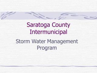Saratoga County Intermunicipal
