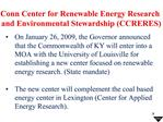 Conn Center for Renewable Energy Research  and Environmental Stewardship CCRERES