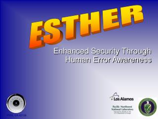 Enhanced Security Through Human Error Awareness