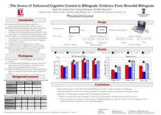 Unimodal (speech-speech) bilinguals outperform