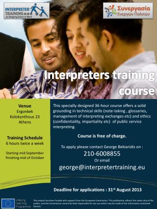 Interpreters training course