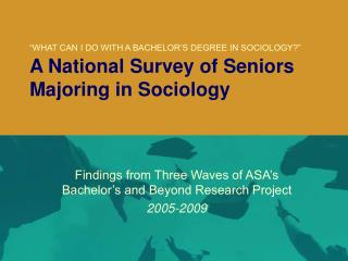 Findings from Three Waves of ASA's Bachelor's and Beyond Research Project 2005-2009