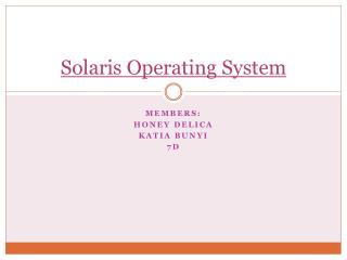 Solaris Operating System