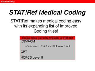 STAT!Ref Medical Coding