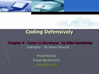 Coding Defensively