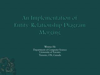 An Implementation of  Entity-Relationship Diagram Merging