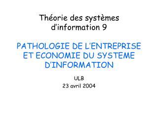 ULB 23 avril 2004