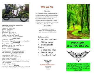 Phantom Electric Bike CO.