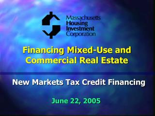 Financing Mixed-Use and Commercial Real Estate