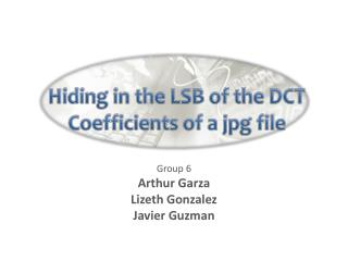 Hiding in the LSB of the DCT Coefficients of a jpg file