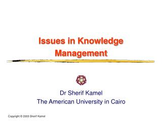 Issues in Knowledge Management