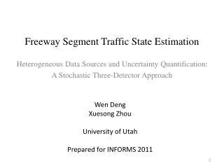 Freeway Segment Traffic State Estimation