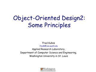 Object-Oriented Design2: Some Principles