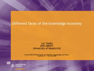 Different faces of the knowledge economy