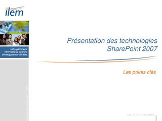 Pr sentation des technologies  SharePoint 2007