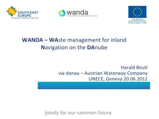 WANDA – WA ste management for inland  N avigation on the  DA nube
