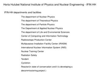 The department of Nuclear Physics The department of Theoretical Physics