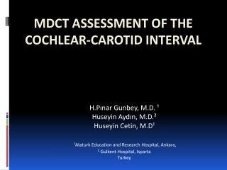 MDCT Assessment of The Cochlear-Carotid Interval