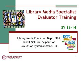 Library Media Specialist  Evaluator Training SY  13-14
